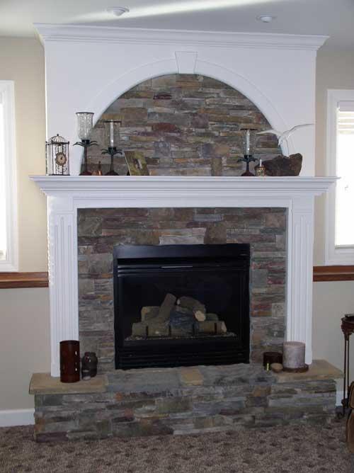 Stone/Wood Fireplace